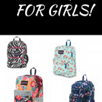 Coolest Backpacks For Girls, Black, White & Pink Jansport Zebra Strip