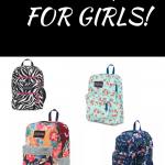 Coolest Backpacks For Girls, Black, White & Pink Jansport Zebra Strip