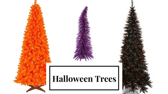 orange halloween tree - Halloween Tree Decorations
