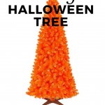 Nightmare Before Christmas Tree -Orange Halloween Tree