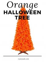 Orange halloween tree