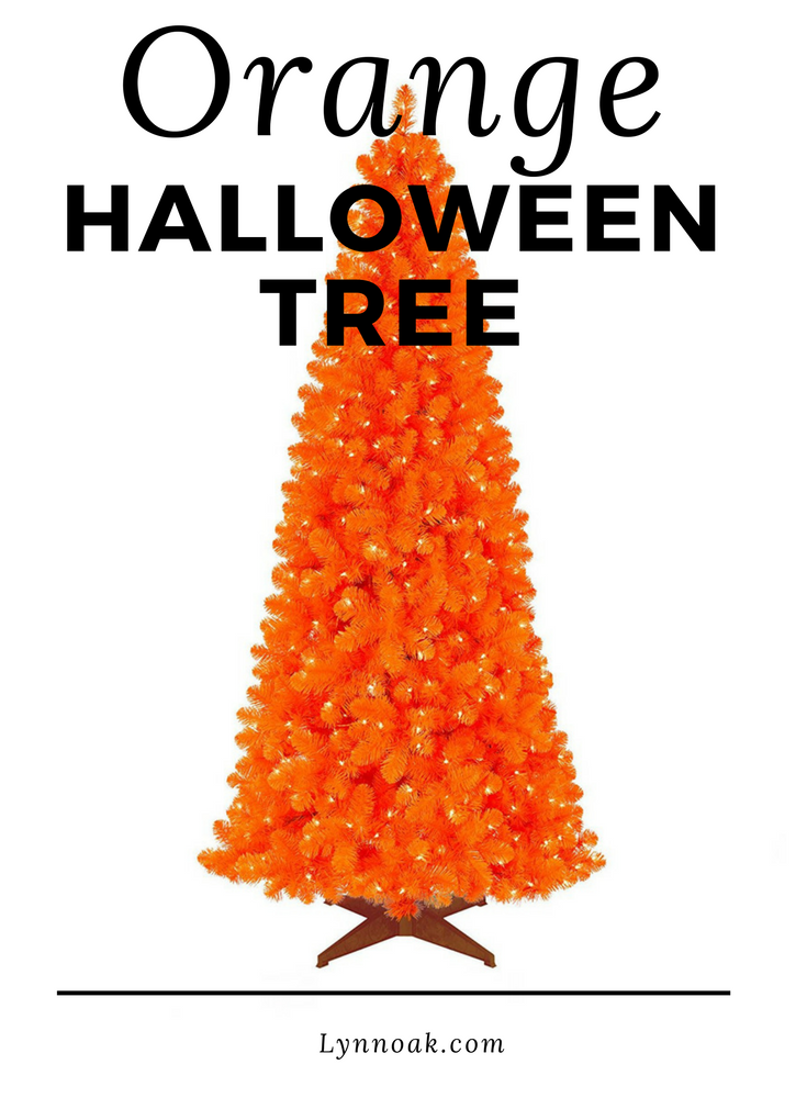 Funky Halloween Decorations -Orange Halloween Tree is a Must!