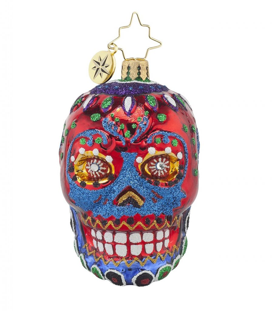 Red skull radko halloween ornament
