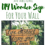 DIY Wooden Sign For Wall