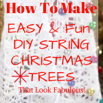 How To Make Easy DIY String Christmas Tree Decorations That Look Fabulous!